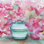 Azalea, Watercolor, Clara Fruggeri