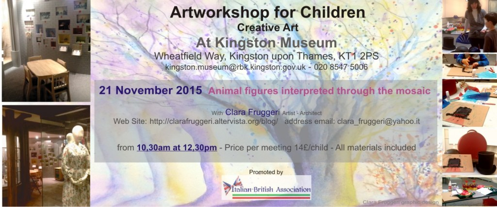 Artworkshop for children, Clara Fruggeri architect and artist