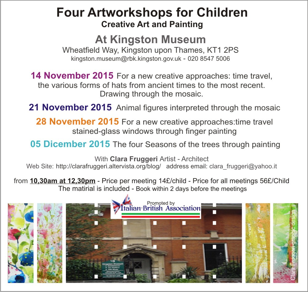 artWorkshop_novembre, Four Artworkshops for children, Clara Fruggeri