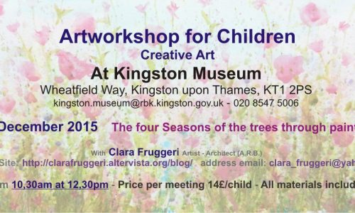 Artworkshop for children december 2015