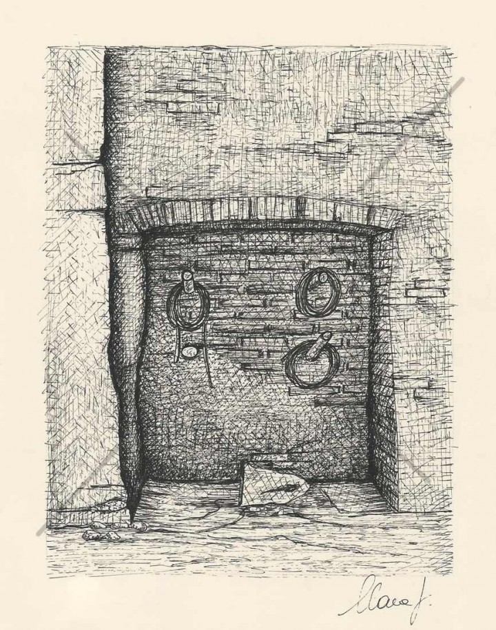 Country House, Ink Drawing, Ink, Drawing, Painting, Clara Fruggeri, Artist