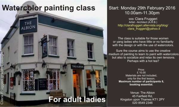 Watercolour Class at Kingston Upon Thames