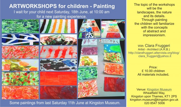 Art Workshops at Kingston Museum, Clara Fruggeri
