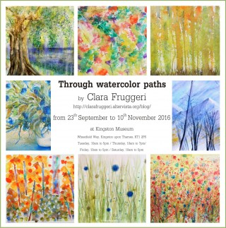 Through watercolor paths - Watercolor paintings exhibition, Clara Fruggeri