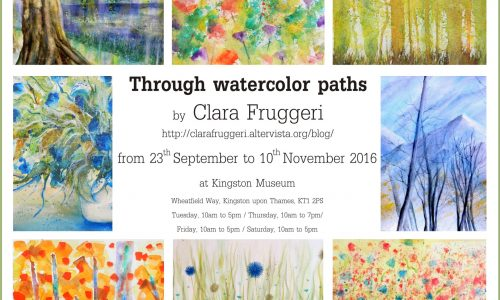 Through watercolor paths – Paintings exhibition