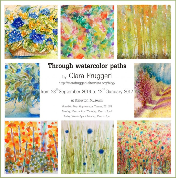 Mostra Museo, Through watercolor paths, Paintings exhibition, Clara Fruggeri, Mostra fino a Gennaio 2017