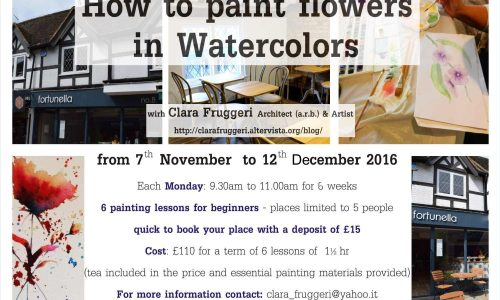 How to paint flowers in watercolors