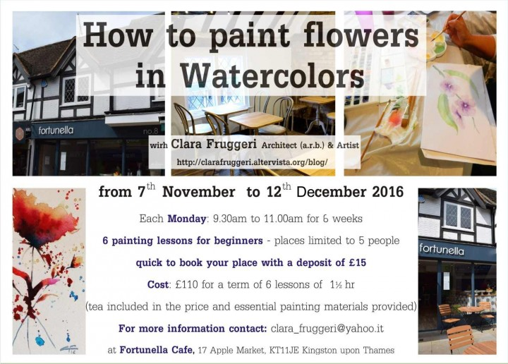 Watercolor Course, How to paint flowers in watercolors