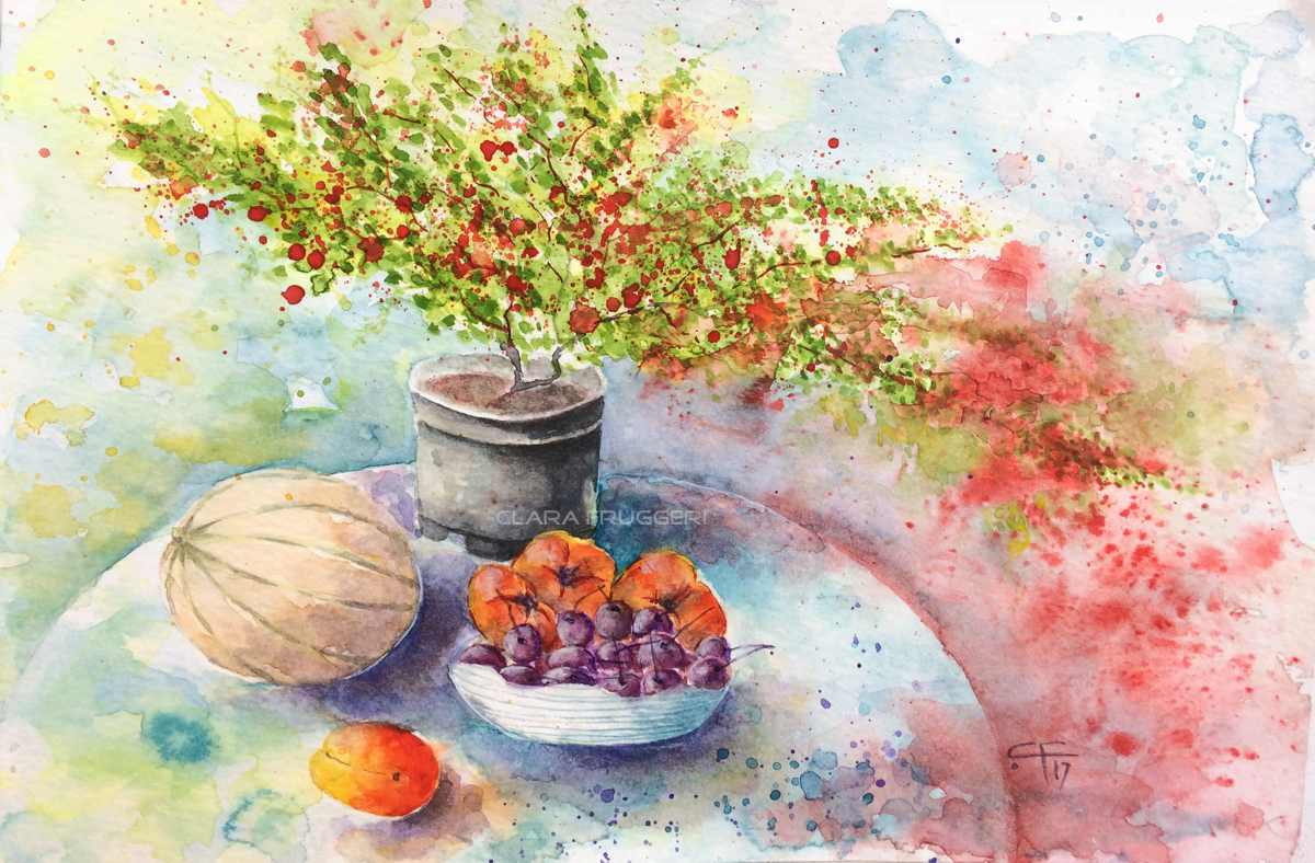 Afternoon heat, Watercolor, Clara Fruggeri