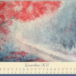 Free november watercolor painting wallpaper