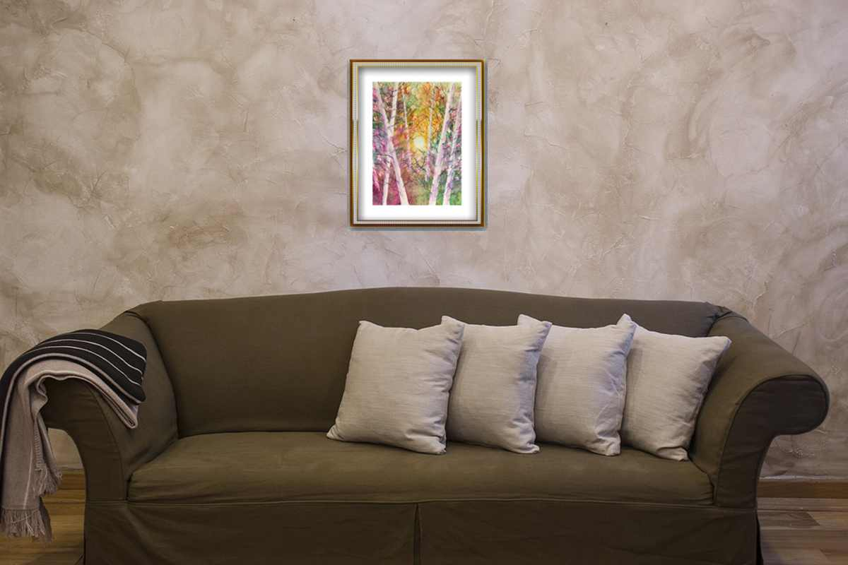 Watercolor painting, Artistic illustration, Interior design