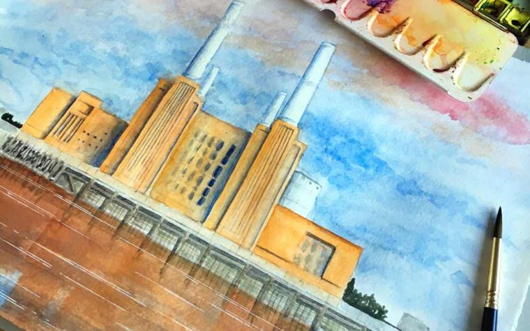 Battersea, Watercolor painting