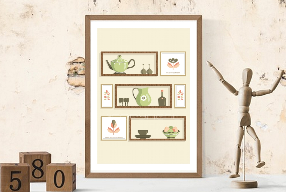 Printable art, Mid Century Modern, Wall decor