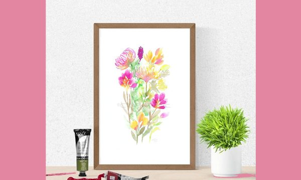 Wall art Prints, Wildflower Prints, Watercolor Flowers, Wall decor, Printable art