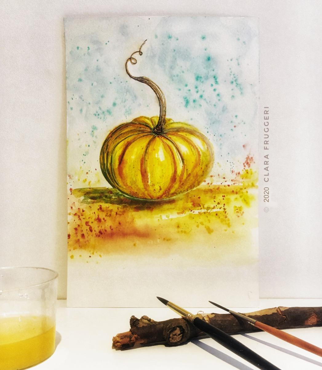 Watercolor  Pumpkin,