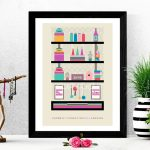 Kitchen wall decor, Mid Century Modern Instant Printable, Digital print